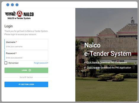 NALCO e-Tender Application